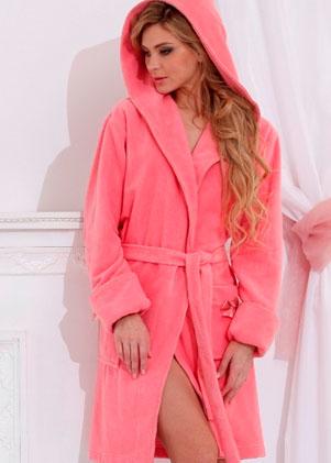 1239407b27afb Создать женский махровый халат с именной вышивкой (Comfort с капюшоном)